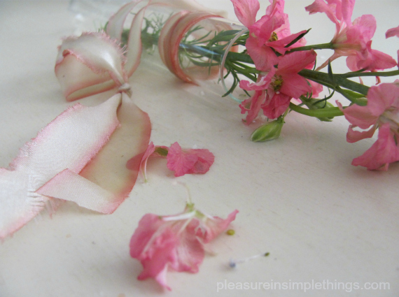 pink  flowers for May Day