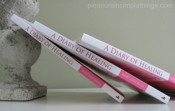 photo of copies of Mary Ann Wasil's book