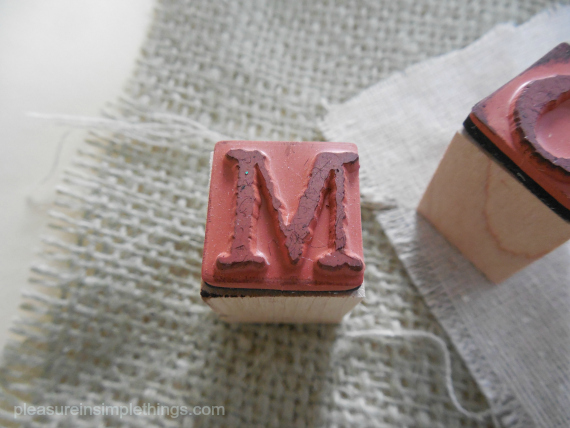 letter stamp for diy placecards