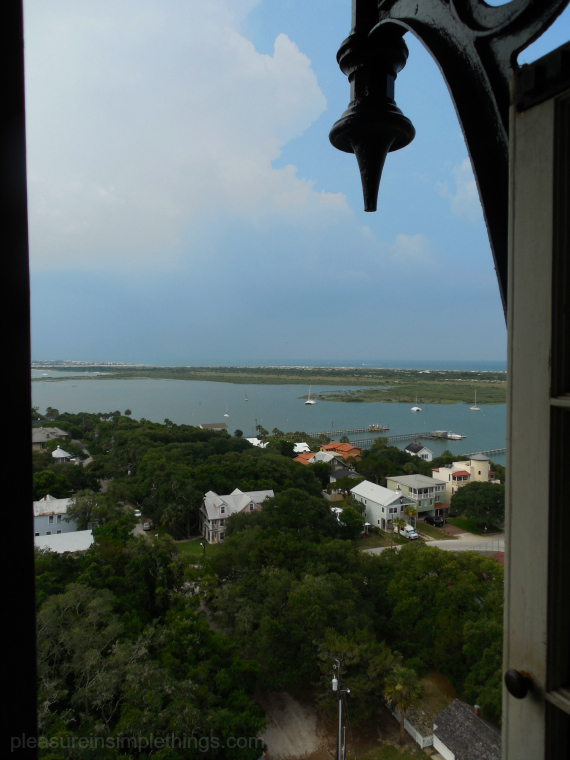 view from lighthouse window pleasure in simple things