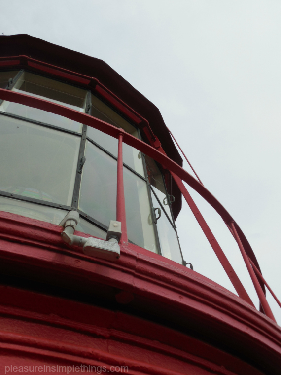 top of the St. Augustine lighthouse pleasure in simple things