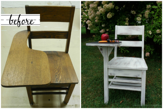 before and after photo old school desk pleasure in simple things