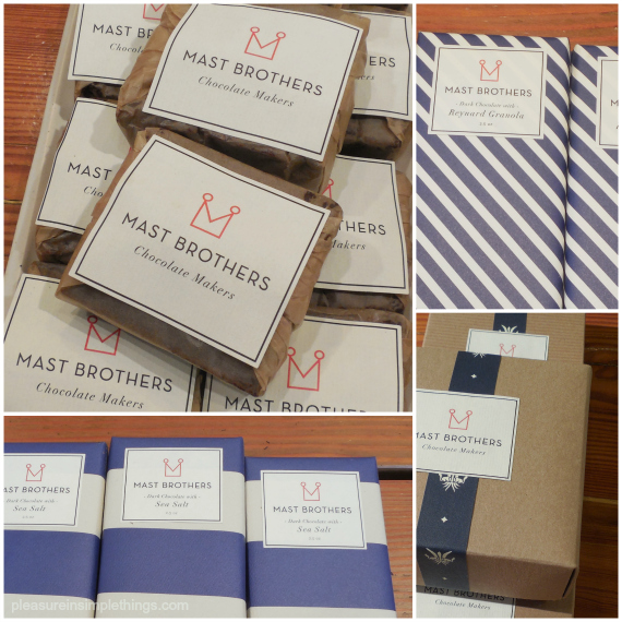a Mast Brothers Chocolate Products pleasure in simple things