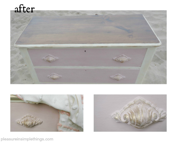 collage of after photos beach house dresser pleasure in simple things