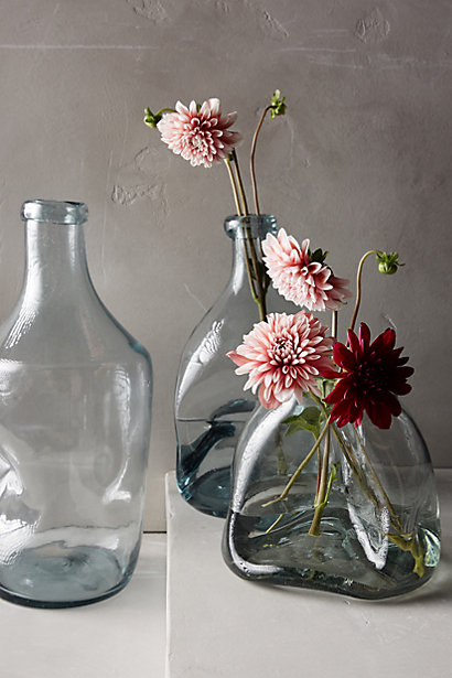 pinched glass vase anthro pleasure in simple things