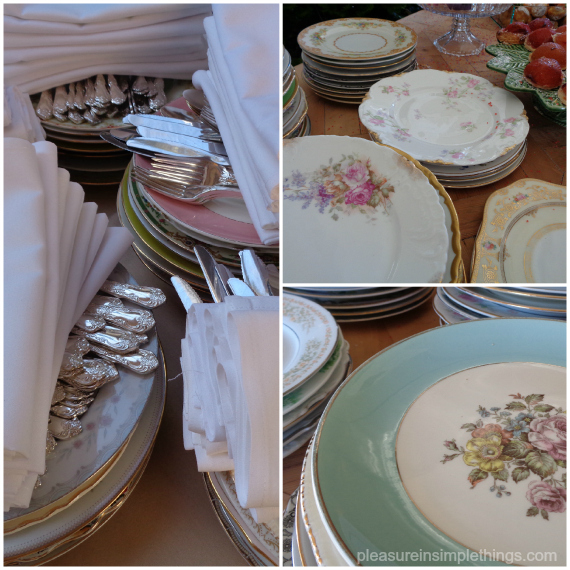 eclectic mix of vintage plates pleasure in simple things blog