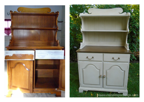 before & after with Annie Sloan Old Ochre pleasure in simple things blog