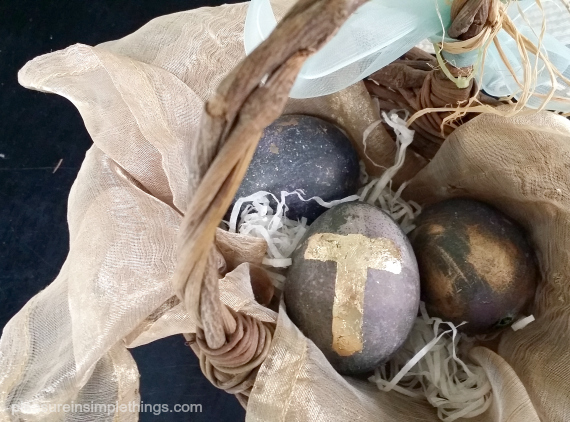 gray and gold easter eggs pleasure in simple things blog
