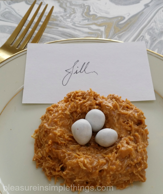 nest place card pleasure in simple things blog