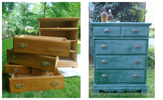 before and after dresser Annie Sloan Amersterdam Green